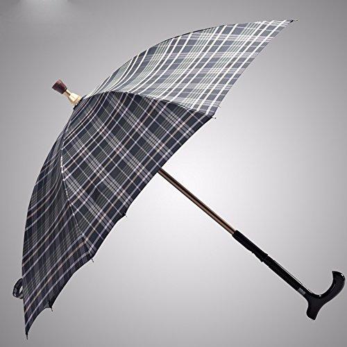 KHSKX Rinforzo di protezione di canna esterna ombrello Ombrello manico regolabile in altezza skid arrampicata ombrello vecchio,verde scuro