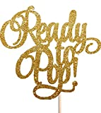 Bereit zu Pop Gold Glitzer Tortenaufsatz Baby Dusche NEU Party Boy Oh Baby Mädchen Willkommen Zuhause