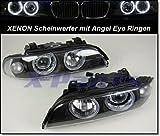 1030075 Xenon Scheinwerfer mit Angel Eye Ringe Schwarz Linsen E39 1995-2000