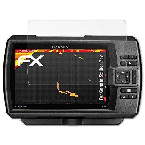 Garmin Striker 7dv Protezione Pellicola dello Schermo - 3 x atFoliX FX-Antireflex-HD ad alta risoluzione antiriflesso Pellicola Protettiva Pellicola Proteggi