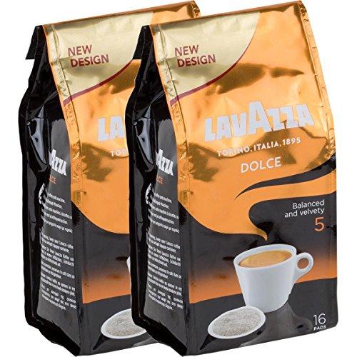Lavazza Kaffeepads Caffè Crema Dolce, 2er Pack, 2 x 16 Kaffee Pads