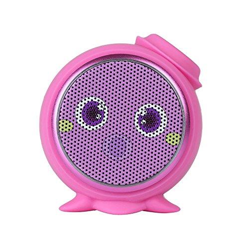 Myoyo Bluetooth Lautsprecher Kreative Outdoor Automotive Cartoon Audio Mini Tragbare Bass Kanone,Pink