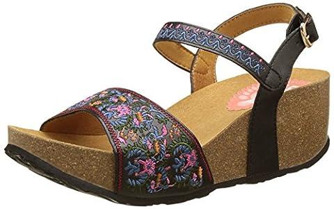 Chaussures Desigual - Desigual White Flowers, Sandales Bride Arriere Femme,