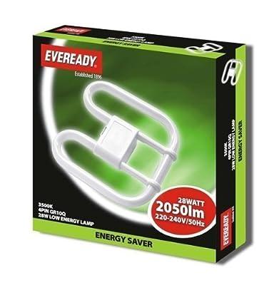 28W 2D GR10Q 4 pin Energy Saving Light Bulb 3500k [Energy Class A]