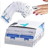 Nail Polish Remover Pads, AIDUE 200 Stück Nagel Folie Packungen UV Gel Nagellackentferner Acryl Nagellack Entferner Tücher