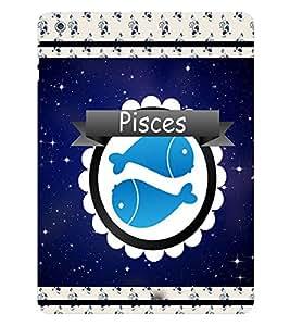 Fuson 3D Printed Sunsign Pisces Designer back case cover for Apple iPad Air - D4433