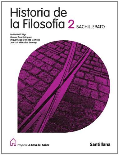 Proyecto La Casa del Saber, historia de la filosofía, 2 Bachillerato - 9788429443769