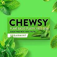 Chewsy - Menta Verde | Chewing gum naturale, senza plastica | Senza zucchero, senza aspartame | 100% xilitolo,