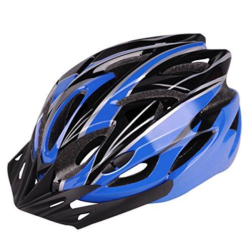 Fahrradhelm, Six Foxes Unisex Erwachsenen Leichtgewicht Schutzhelm Fahrrad Helm mit 18 Belüftungsöffnungen, abnehmbare Visier und Einstellbares Radsystem Fur Herren...