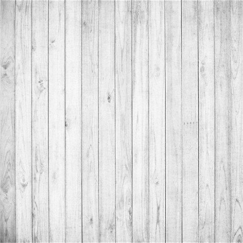YongFoto 3x3m Vinyl Foto Hintergrund Holzoptic Hellgraue Hölzerne Alte Hölzerne Planke Fotografie Hintergrund für Photo Booth Baby Party Banner Kinder Fotostudio Requisiten