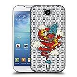 Head Case Designs Drachen Druck Modische Patches Ruckseite Hülle für Samsung Galaxy S4 I9500