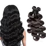Moresoo 300gram 3 Bundles Meche Bresilienne Ondulé Cheveux Bresilien Humains Weaving Extensions Cheveux Bresilien Tissage Naturel Remy Hair 18,20,22 Pouces/45,50,55cm Natural Real Human Hair