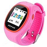 Kinder GPS Smartwatch Tracking Armband lbs Lokalisierung Anruf Antwort Kinder Uhr für Android (Pink)