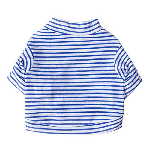 Haustiere Hund T-Shirt, Shirt für Hunde,friendGG Haustier Hund Hündchen Weste T-Shirt Hund Kleider GestreiftWeste Bekleidung Frühling (Hündchen Kostüm Kit)