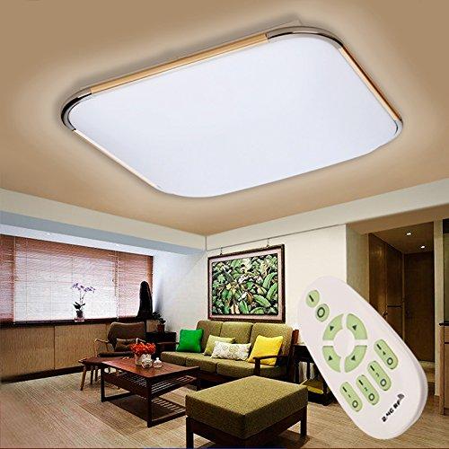Floureon 56-64W LED Deckenlampe Smart Deckenbeleuchtung dimmbar mit fernbedienung für Wohnzimmer Schlafzimmer Kinderzimmer Küche modern Badlampe 4600Lumen Gold