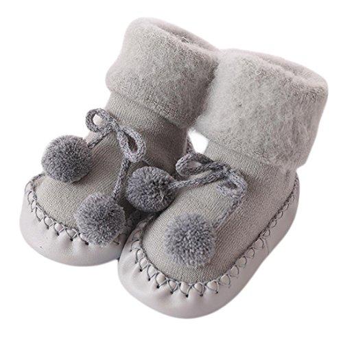 DAY.LIN Baby Junge Mädchen Socken Baumwolle Kinderbodensocken Anti-Rutsch Baby Schritt Socken (11cm/4.3