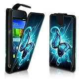 wicostar Vertikal Flip Style Handy Tasche Case Schutz Hülle Schale Motiv Etui Karte Halter für Huawei Y625 - Variante VER35 Design9