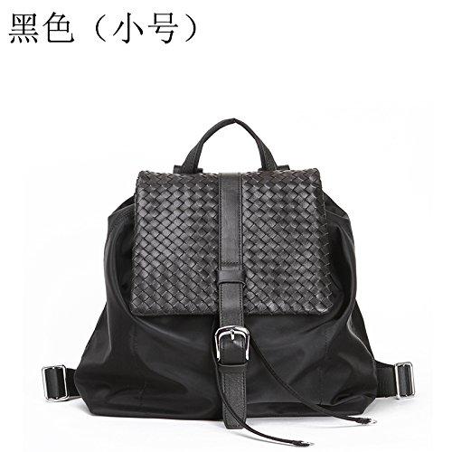 Fashion sacs tissés sacs sac à dos Sac à dos en nylon imperméable sac léger Black-trumpet