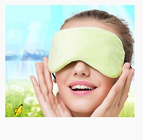 GAOYU Heiße Kompressor-Augen-Abdeckung Elektrische Schlaf-Schutzbrillen - Usb-Jack + Zweiter Gang-Temperatur-Kontrollschalter - ermüden Ermüdung der Augen und beseitigen die dunklen Kreise,Gelb