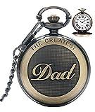 Best Gifts Men Under 30s - Mens Pocket Watch, Vintage Quartz Pocket Watches Review