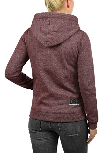 DESIRES Bennja Zip - veste à capuche - Femme Wine Red Melange (8985)