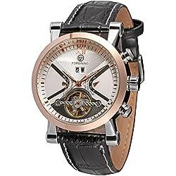 Forsining Men's Fashion Automatic Day Calendar Steampunk Wrist Watch FSG2371M3T2