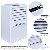 Devekop Mobiles Klimagerät 3 in 1 Raumluftkühler, Luftbefeuchter und Ventilator mit Einstellbare Windgeschwindigkeit für Büro, Wohnzimmer, Küche, Schlafzimmer, Badezimmer (Timerfunktion)