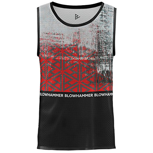 Blowhammer Tank Top Herren - Chipped Red (Abstraktes Tank-top)