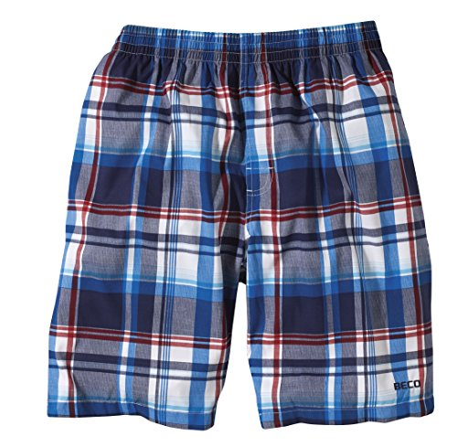 Beco Herren Shorts Weiß/Blau