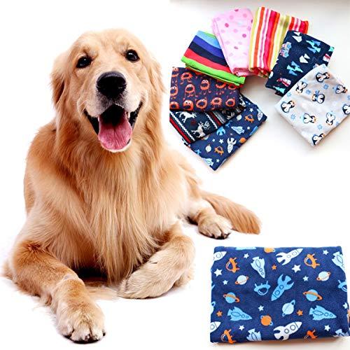 Ruiqas 2 Teile/los 100 * 70 cm Weiche Fleece Pet Dog Blanket Bunte Druck Puppy Cat Bed Mat Warme Schlaf Kissenbezug