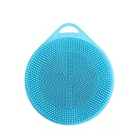 joyMerit Double Sided Silicon Brush Dish Scrubber Silicone Sponge Dish Sponge Kitchen Accessories