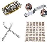 JOYORUN Ciclismo Bicicletta Multi Funzione meccanico di riparazione Kit di strumenti riparazione 11 in 1 per MTB Bicicletta Strumenti con Pneumatici Kit di Riparazione Pneumatici Senza Coda e Leve, 2Pcs