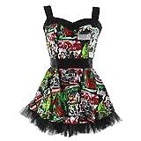 Hell Bunny Minikleid B - Movie Dress black/multi