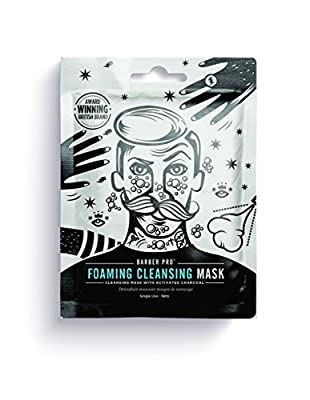BARBER PRO FOAMING CLEANSING MASK cleansing mask for men with activated charcoal from BeautyPro