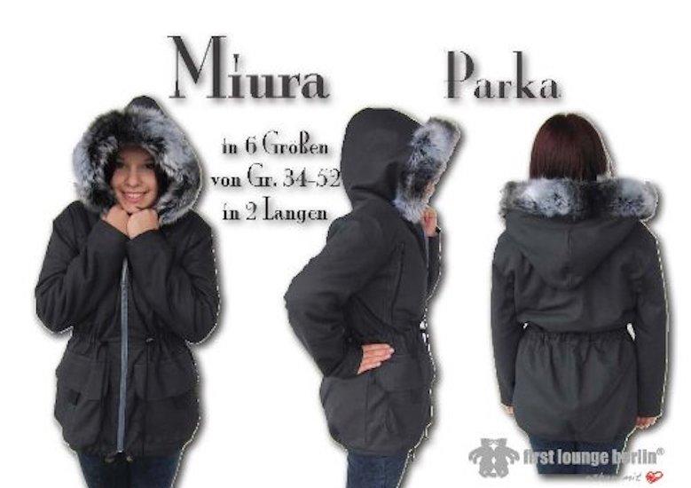 Miura Nähanleitung mit Schnittmuster für Parka, Kapuzen-Jacke oder Mantel in 5 Größen [Download]