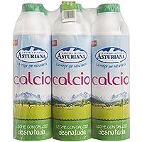 Central Lechera Asturiana Leche Calcio Desnatada - Paquete de 6 x 1000 ml - Total: 6000 ml