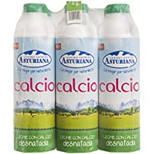 Central Lechera Asturiana Leche Calcio Desnatada - Paquete de 6 x 1000 ml - Total: