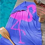 Seahorse Flamingo Beach Handtuch, Baumwolle, Kobalt, 180x 100x 0,03cm