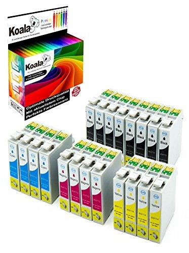 7400 Magenta Toner (Koala 20 Druckerpatronen kompatibel für Epson T0711 T0712 T0713 T0714 für Epson D78 D92 D120 DX4000 DX4050 DX4400 DX7400 DX7450 DX8400 DX8450 DX9400 (8*Schwarz, 4*Cyan, 4*Magenta, 4*Gelb))