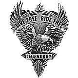 Pin S épinglette Biker águila Live Free Ride Free para chaqueta y chaleco