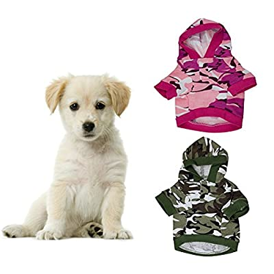 Camouflage Hoodie Pet Dog Puppy Cat Warm Clothes Coat Sweater Outwear Jacket Winter Costume Apparel