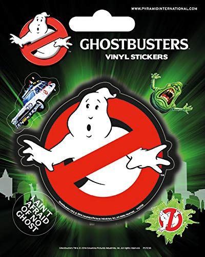 Ghostbusters Vinyl-Aufkleber, Papier, Mehrfarbig, 10 x 12.5 cm -