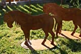 Metall Rost Deko Pferd, Blechfiguren im trendigem Edelrost