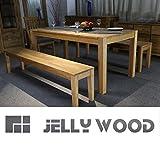 Jellywood Esstisch FLORENZ,in Eiche Massivholz180 x 90 cm Tisch, Massivholztisch Farbton Natur, Oberfläche geölt, solide Beine durchstossen,A+