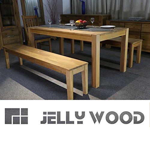 Jellywood® Esstisch FLORENZ,in Eiche Massivholz180 x 90 cm Tisch, Massivholztisch Farbton Natur, Oberfläche geölt, solide Beine durchstossen,A+