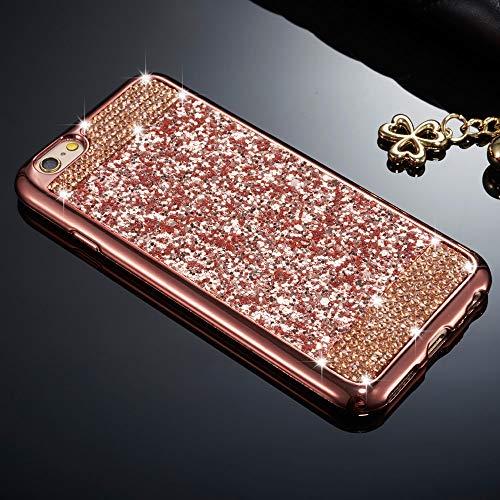Zcdaye Custodia scintillante con glitter per iPhone, silicone PLASTICA, Rose Gold, iPhone 7 Plus/iPhone 8 Plus