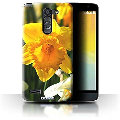 Custodia/Cover Rigide/Prottetiva STUFF4 stampata con il disegno Fiori del giardino floreale per LG L Bello/D331 - Narciso - Bella Narciso