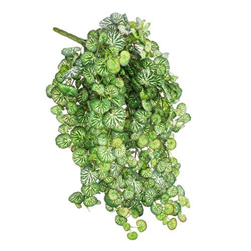 artplants - Künstlicher Saxifraga-Hänger Linus auf Steckstab, mit 560 Blättern, Mini, 60 cm - Steinbrech Hängepflanze/Deko Textil Pflanze