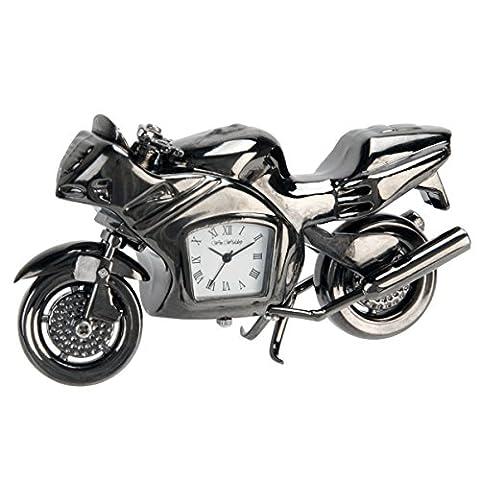 Personalised Gun Metal Superbike Miniature Clock