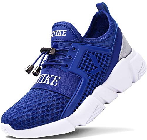 ASHION Kinder Turnschuhe Jungen Sport Schuhe Mädchen Kinderschuhe Sneaker Outdoor Laufschuhe für Unisex-Kinder(F-Blau,38 EU)